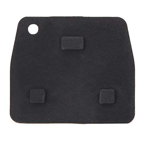 SODIAL 3 Buttons Remote Key Repair Kit Case Fob Button Pad Rubber for Toyota Avensis R