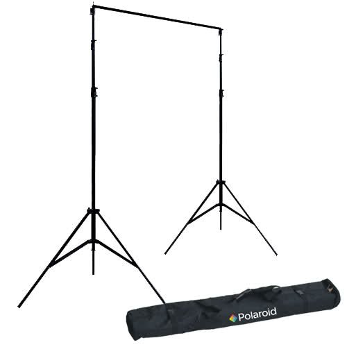 Polaroid Pro Studio Telescopic Background Stand Backdrop Support System Includes Deluxe Carrying Case
