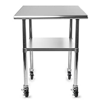 Amazon.com: Rounded Edges 4 Caster Commercial Stainless ...