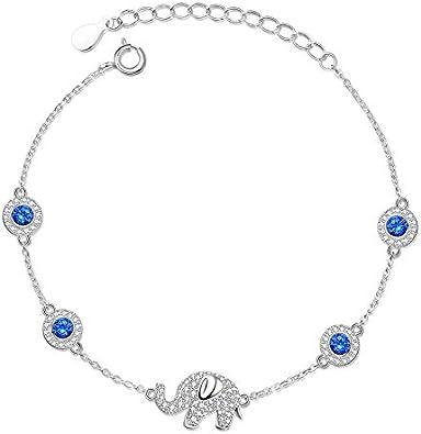Nobrand Chams Elefante Azul Piedra Evil Ojo Pulseras para Las Mujeres 925 Plata De Ley Hamsa Hombres Pulseras Joyería Bohemia Joyería