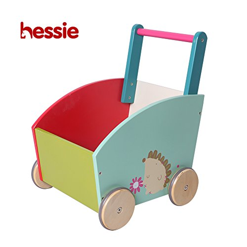 Hessie Little Toddler Kids/Baby Push Wooden Learning Walker, Push and Pull Toys for 1 Year and Up - Green Hedgehog ()