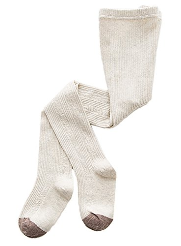 Girls Fashion Tights (Fiream Girls Cotton Socks Cable Tights (Beige,M(3-5YRS)))