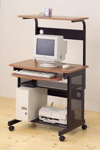 Coaster Home Furnishings Walnut and Black Metal Workstation Desk