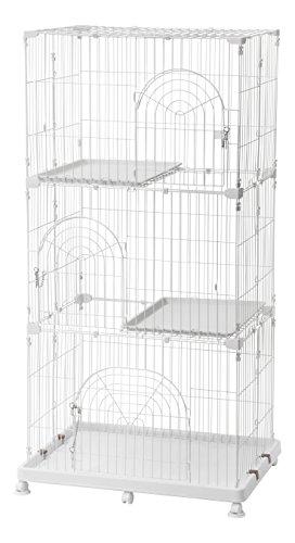 Iris 3 Tier Wire Pet Cage White