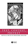 Text, Context, Pretext: Critical Isssues in Discourse Analysis (Language in Society)