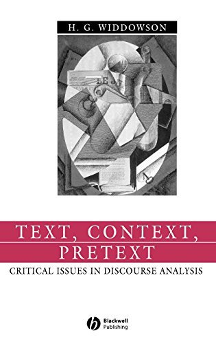 Text, Context, Pretext: Critical Isssues in Discourse Analysis (Language in Society) Pdf