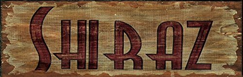 Red Wood Shiraz Sign