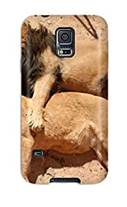 Galaxy S5 Case Cover - Slim Fit Tpu Protector Shock Absorbent Case (lions Love)