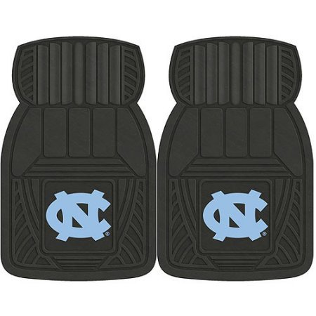 NCAA 4-Piece Front #36572590 and Rear #19888854 Heavy-Duty Vinyl Car Mat Set, University of North Carolina by Sports Licensing Solutions LLC