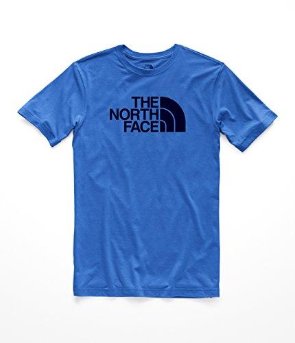 The North Face Men's S & S Half Dome Tri- Blend Tee - Turkish Sea Heather & Urban Navy - L ()
