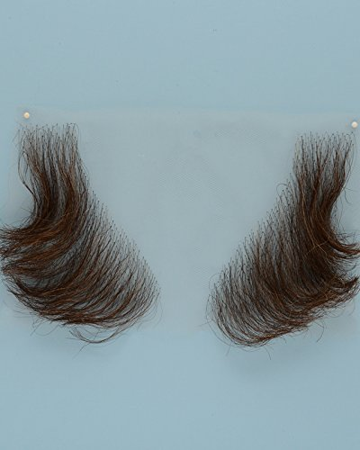 John Blake's Wigs and Facial Hair, Inc. - Large Triangle Sideburns (Medium Brown) ()