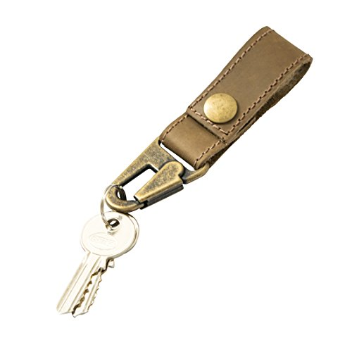 Rustic Leather Key Ring Holder Handmade by Hide  Drink :: Café Con Leche