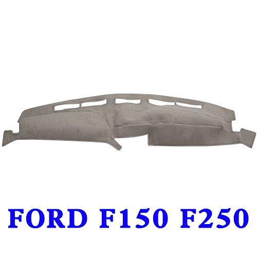 - JIAKANUO Auto Car Dashboard Carpet Dash Board Cover Mat Fit for Ford F150 F250 1992-1996(F150 F250 92-96, Gray MR-073)