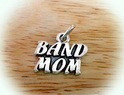 (Sterling Silver 14x17mm Music says Band Mom Music Charm Vintage Crafting Pendant Jewelry Making Supplies - DIY for Necklace Bracelet Accessories by CharmingSS)