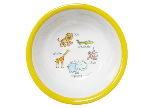 Baby Cie Jungle Animals Yellow Suction Bowl, Multicolor (Baby Cie Suction Bowl)