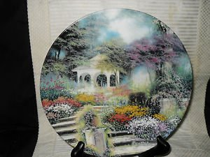 A PEACEFUL RETREAT - FIRST ISSUE IN ENCHANTED GARDENS PLATE NO. 3215A