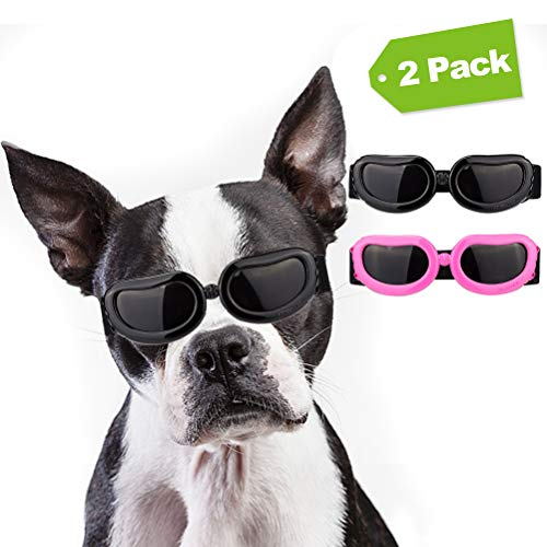 Mihachi Dog Sunglasses UV Protection Pet Goggles for Puppy Dogs Small Medium XS with Adjustable Strap