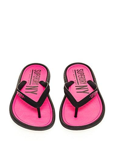 Superdry Black Pink Zehentrenner Damen NYC Fluro rnOwr0qY