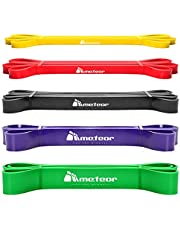Meteor Essential Power Bands, Resistance Loop Set, Natural Latex Fitness Bands for Workout, Yoga, Weightlifting, Physical Therapy, Rehab, Bench Press, Dead Lift, Improve Mobility and Strength