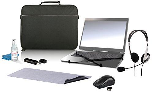 Speedlink Maia Notebook Zubehör Set 7-teilig für 39,12 cm (15,4 Zoll) Notebooks (Tasche, Headset, kabellose Maus, Notebook-Ständer, Reinigungs-Set, Mauspad, Kartenleser)