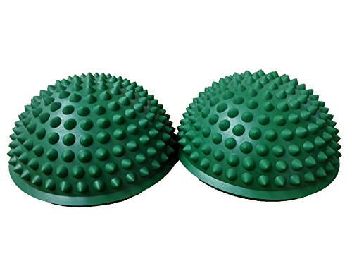 Pair Balance Pods with 1 Pump, Domed Hedgehog Style, Green