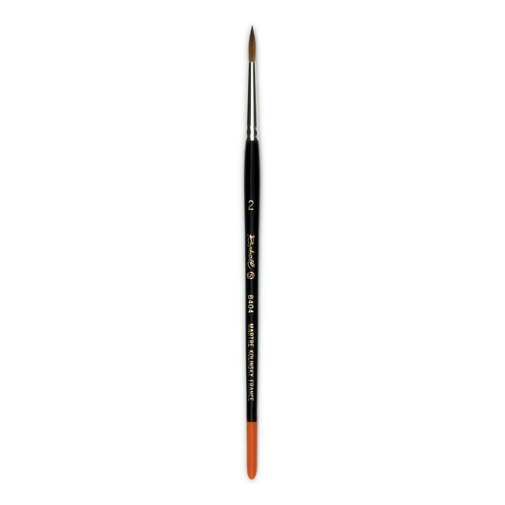 Raphael Kolinsky Sable, Watercolor Brush, Fine Point, Series 8404, Round, Size 02 by Raphael