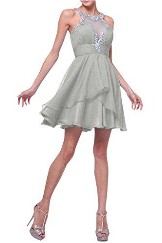 Lamia Braut Wassermelon Chiffon Kurzes Mini Abendkleider Ballkleider ...
