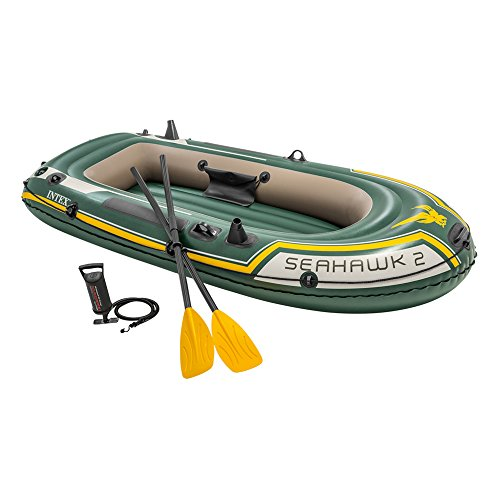 Intex Seahawk 2, 2-Person Inflatable Boat Set with French Oars and High Output Air Pump (Best Inflatable River Rafts)