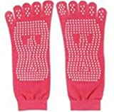 HAIsangyunae Women Yoga Toes Socks Gym Dance Sport Exercise Five Fingers Socks Non Slip Massage Fitness Accessories Red