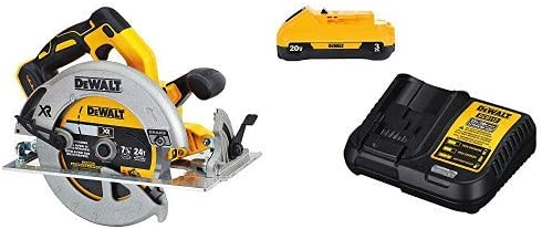 """DEWALT DCS570B 7-1/4"""" (184mm) 20V Cordless Circular Saw with Brake (Tool Only) with DCB230C 20V Battery Pack"""