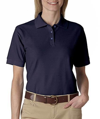 Ultraclub Ladies Whisper Pique Polo 8541 -Navy L
