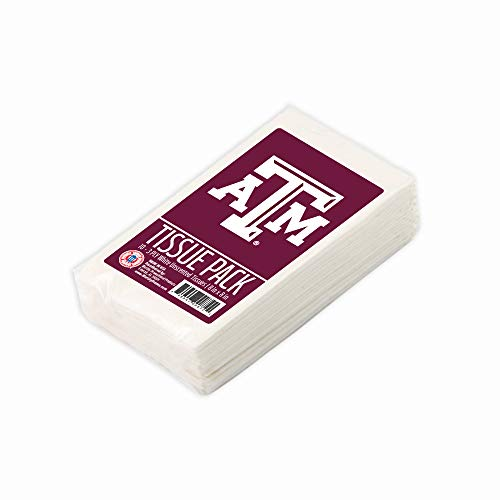 xas A&M Aggies Tissue Packs 10-Pack, 100 Tissues. 3-Ply, White, Unscented. Officially Licensed. Gifts for Men, Women. Stocking Stuffers. ()