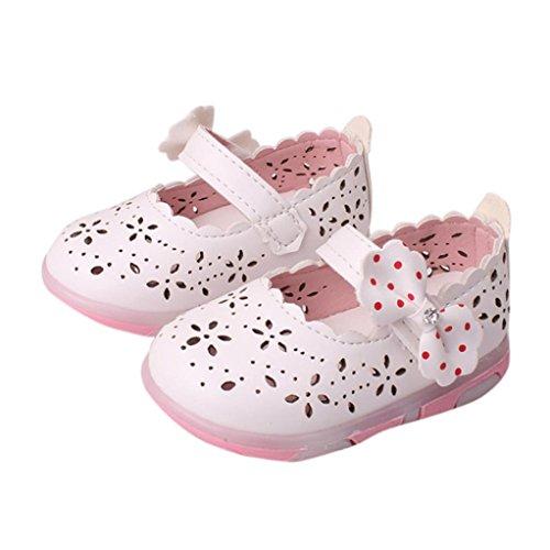 Baby Flower Princess Footwear Shoes + Pearl Headband (White) - 9