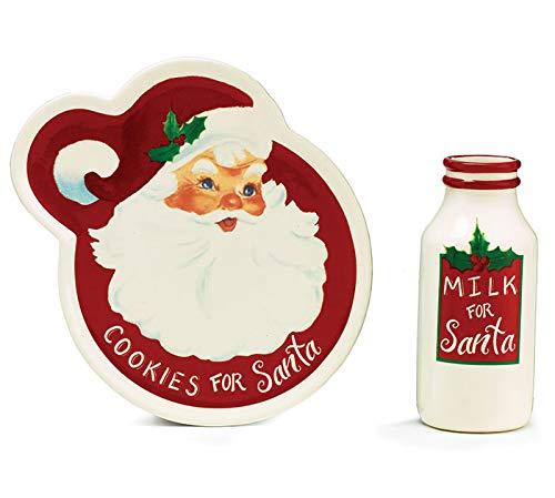 Burton and Burton Santa Cookies and Milk Bottle Set