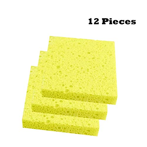 Cleaning Scrub Sponge, Non-Scratch Kitchen Scrubbers Scouring Sponge Pads for Dishes and Cleaning, Cellulose…