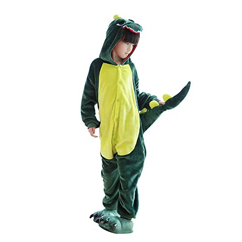 Pajamas Halloween Costume Child Cosplay Pyjama Green 10-12 Years ()