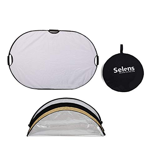 Selens 5-in-1 48x72 Inch Oval Reflector with Handle for Photography Photo Studio Lighting & Outdoor Lighting by Selens (Image #7)
