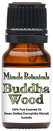 Miracle Botanicals Wildcrafted Buddha Wood Essential Oil - 100% Pure Eremophillia Mitchelli - 5, 10 or 30ml/1oz sizes - Therapeutic Grade - 10ml ()