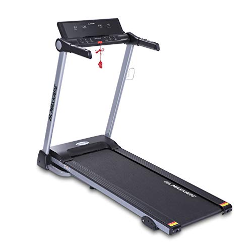 MaxKare Treadmill with 15 Pre-Set Programs, 2.5HP Power, Wide Tread Belt, 8.5 MPH Max Speed, LCD Screen, Cup Holder & Wheels, Easy Assembly,Folding Running Machine, Black (901)