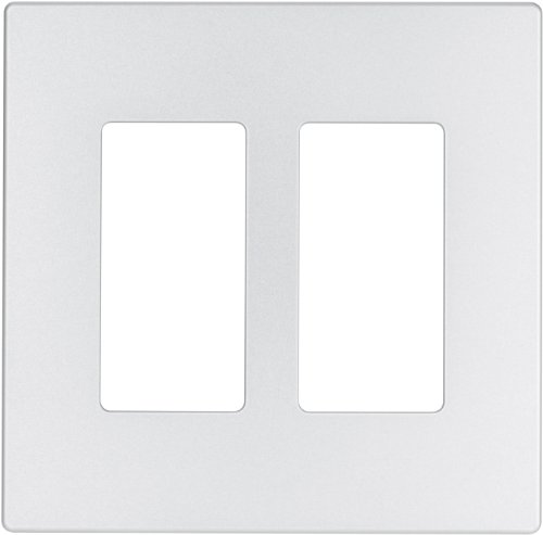 EATON Wiring 9522SG-P ASPIRE Thermoplastic 2-Gang Screwless Mid-Size Wall Plate, Silver Granite ()