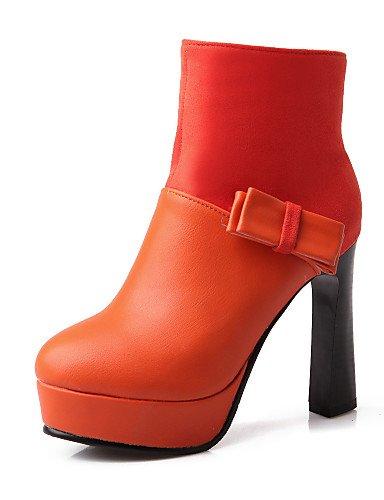 Almond-us9   eu40   uk7   cn41 XZZ  Chaussures Femme - Extérieure   Bureau & Travail   Habillé   Décontracté - Noir   Beige   Orange - Plateforme - Confort   Bottes à la Mode