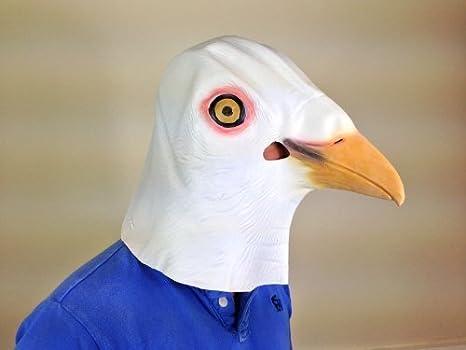 Blanco Paloma Pichón Pájaro Máscara CINE CALIDAD Animal Máscaras ...