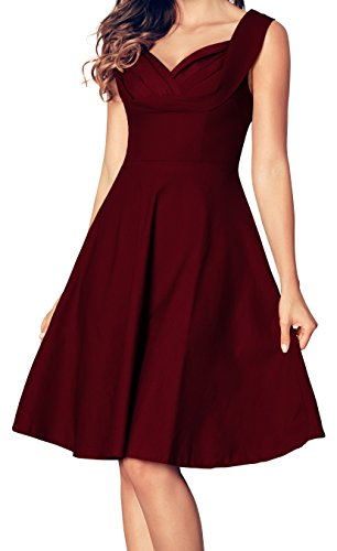 Newbely Womens Homecoming Formal Dresses For Women Party Vintage Cocktail (50s Party Dress)