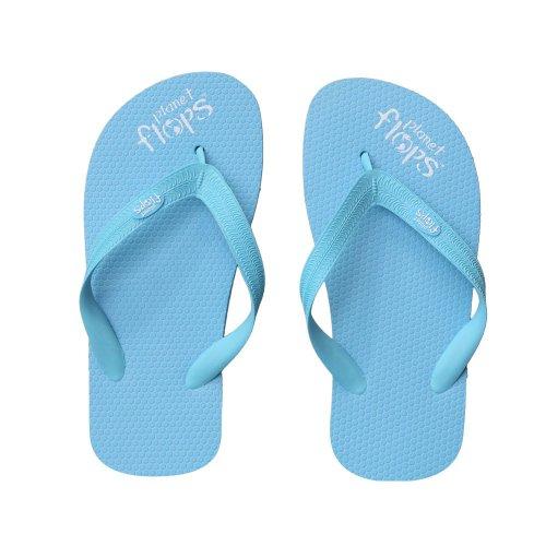 Planet Flops Candyfloss (Blue) Kids Flip-Flops: Incredibly Comfortable, Eco-Chic, Brazilian, Natural Rubber Flip-Flops. ()