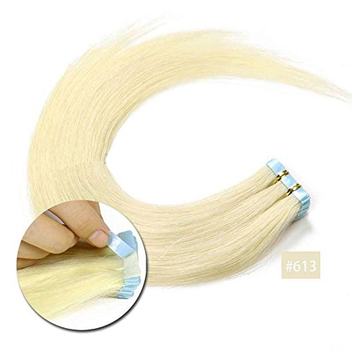 Forever Young Seamless Tape in Hair Extensions 100% Virgin Human Hair 16'...