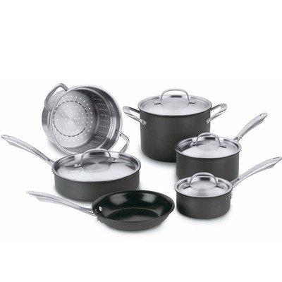 Green Gourmet Hard-Anodized 10-Piece Cookware Set