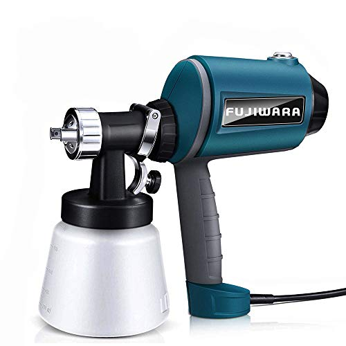 - Paint Sprayer Electric HVLP Airless Paint Gun with Three Spray Patterns, Three Chrome-Plated Nozzle Sizes, Adjustable Valve Knob, 900ml Detachable Container from FUJIWARA