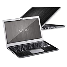 """Mightyskins Protective Skin Decal Cover for Sony VAIO T Series Ultrabook with 13.3"""" screen wrap sticker skins Black Wood"""