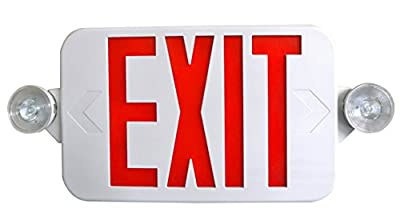 Supreme LED All LED Decorative Red White Exit Sign & Emergency Light Combo with Battery Backup