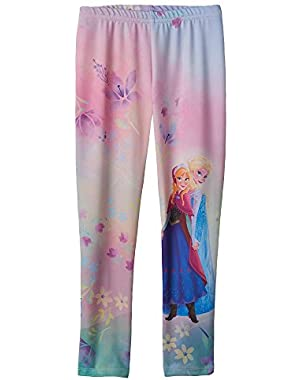 Disney's Elsa & Anna Sub Little Girls Leggings (2T)
